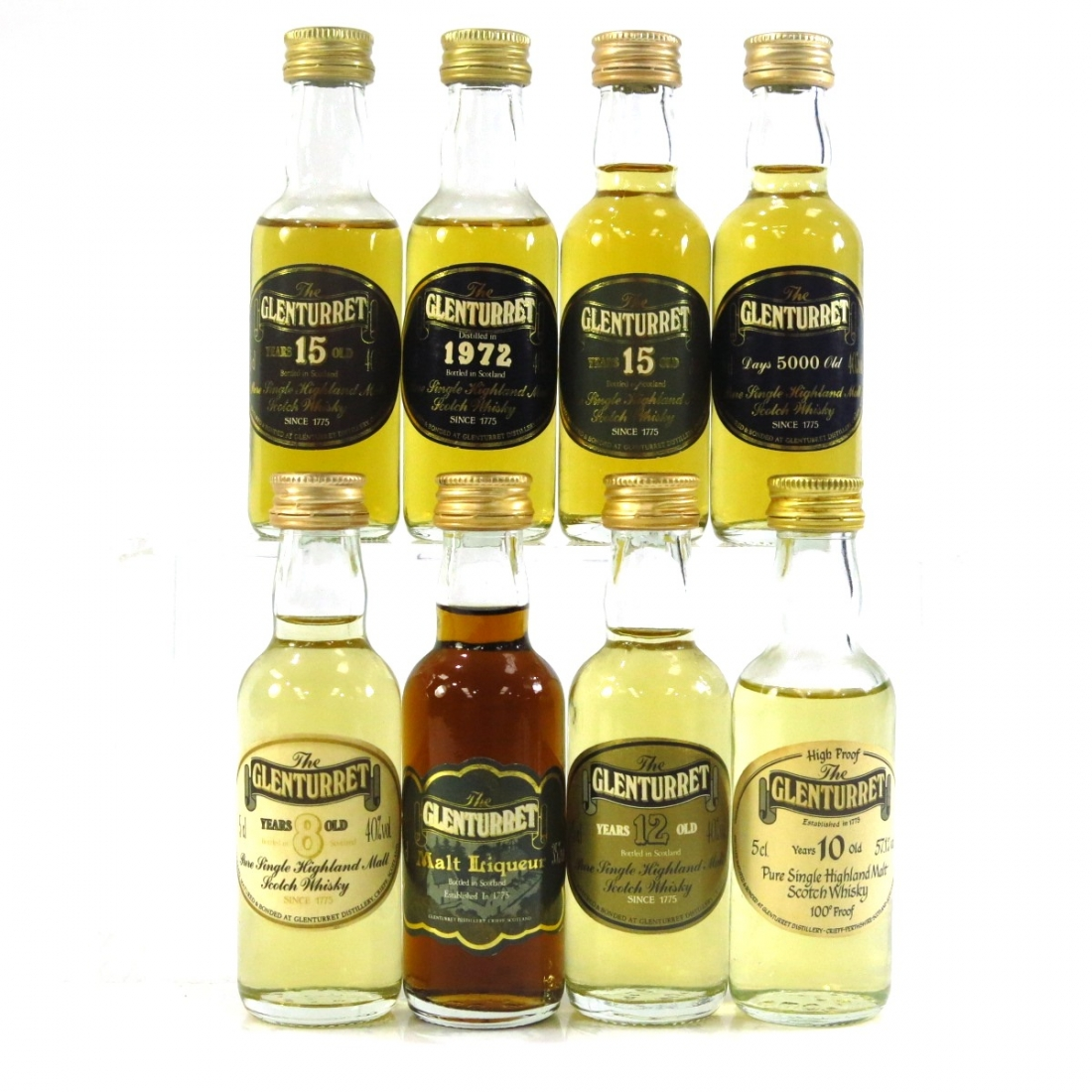 Glenturret Miniature Selection 8 x 5cl