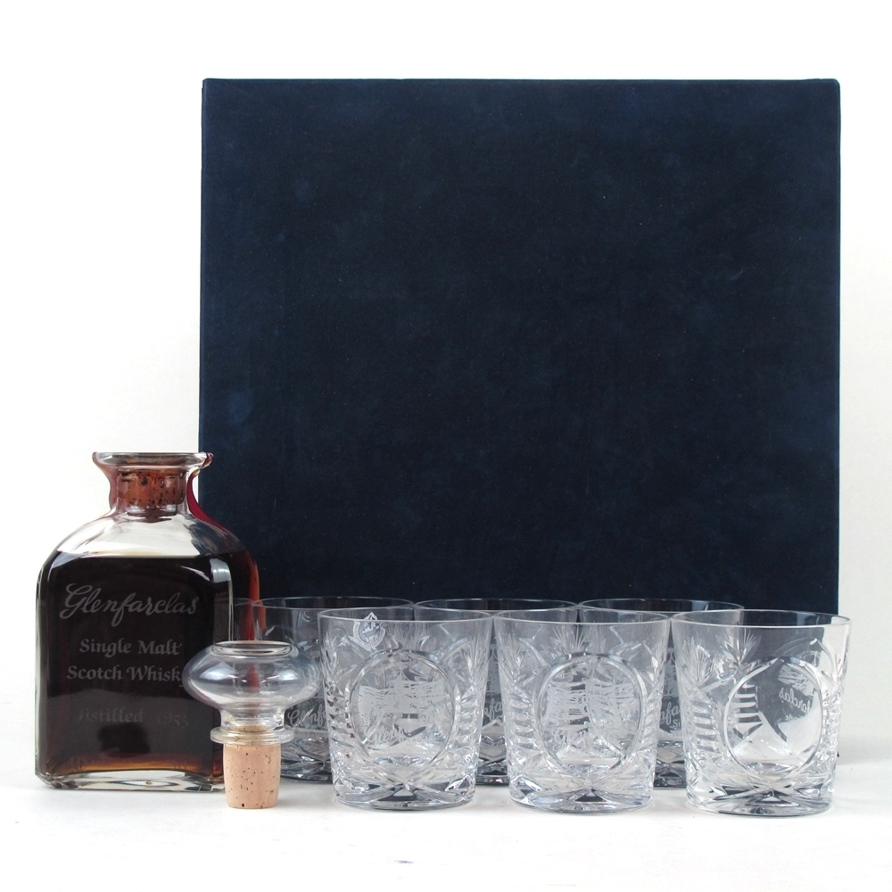 Glenfarclas 1955 Glencairn Decanter / Including 6 Glasses