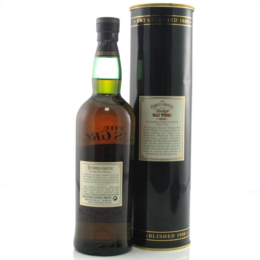 Famous Grouse 1989 Vintage Malt 12 Year Old