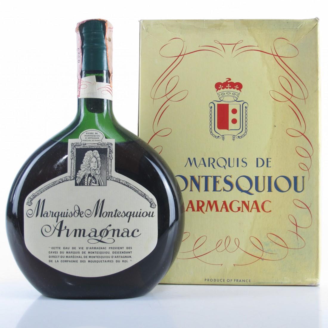 Marquis De Montesquiou 10 Year Old Armagnac 1960s