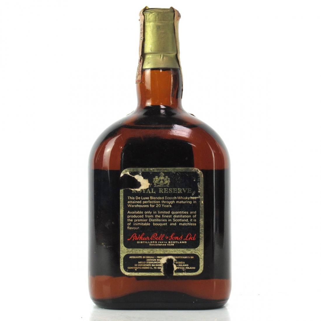 Bell's 20 Year Old Royal Reserve 1970s