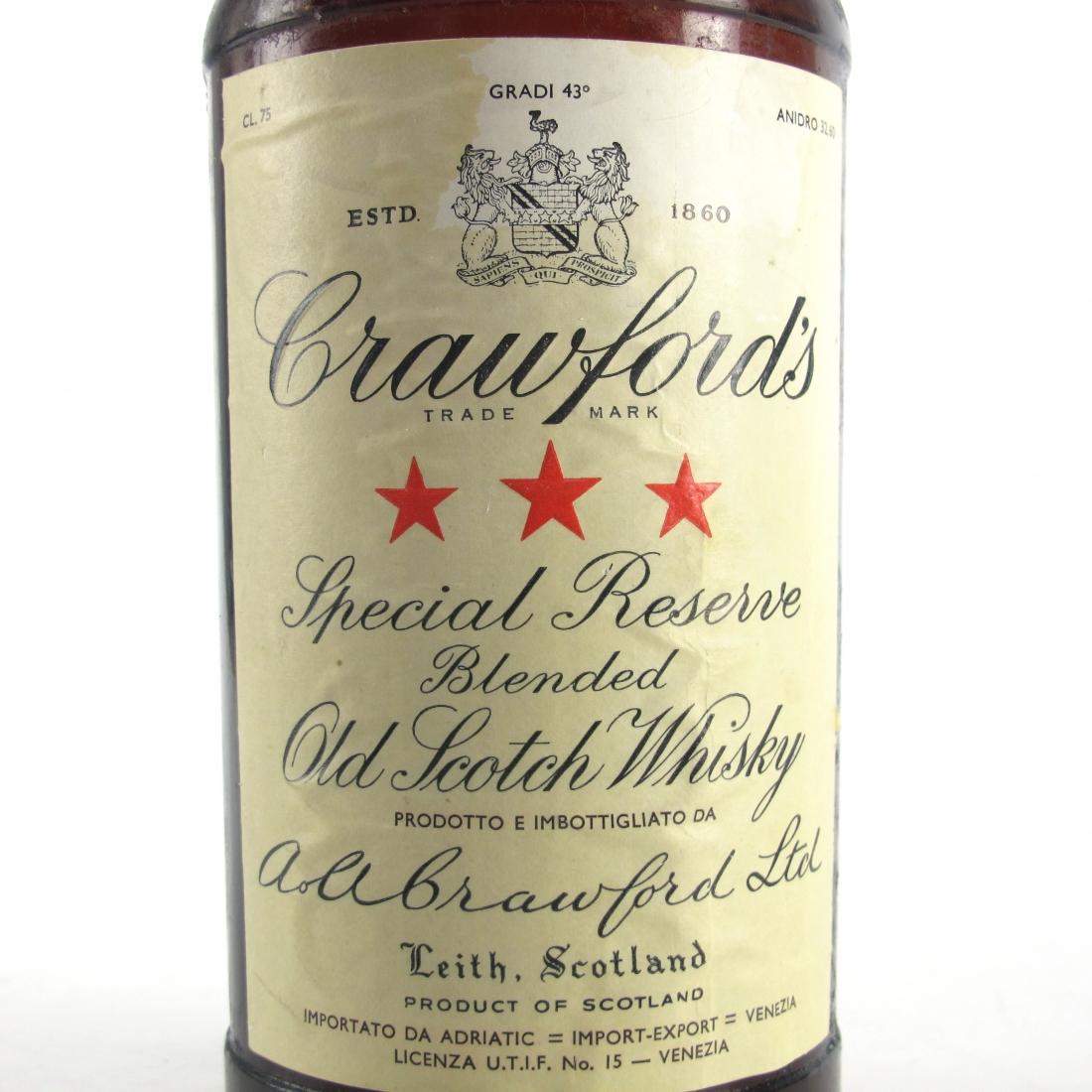 Crawford's Three Star 1960s