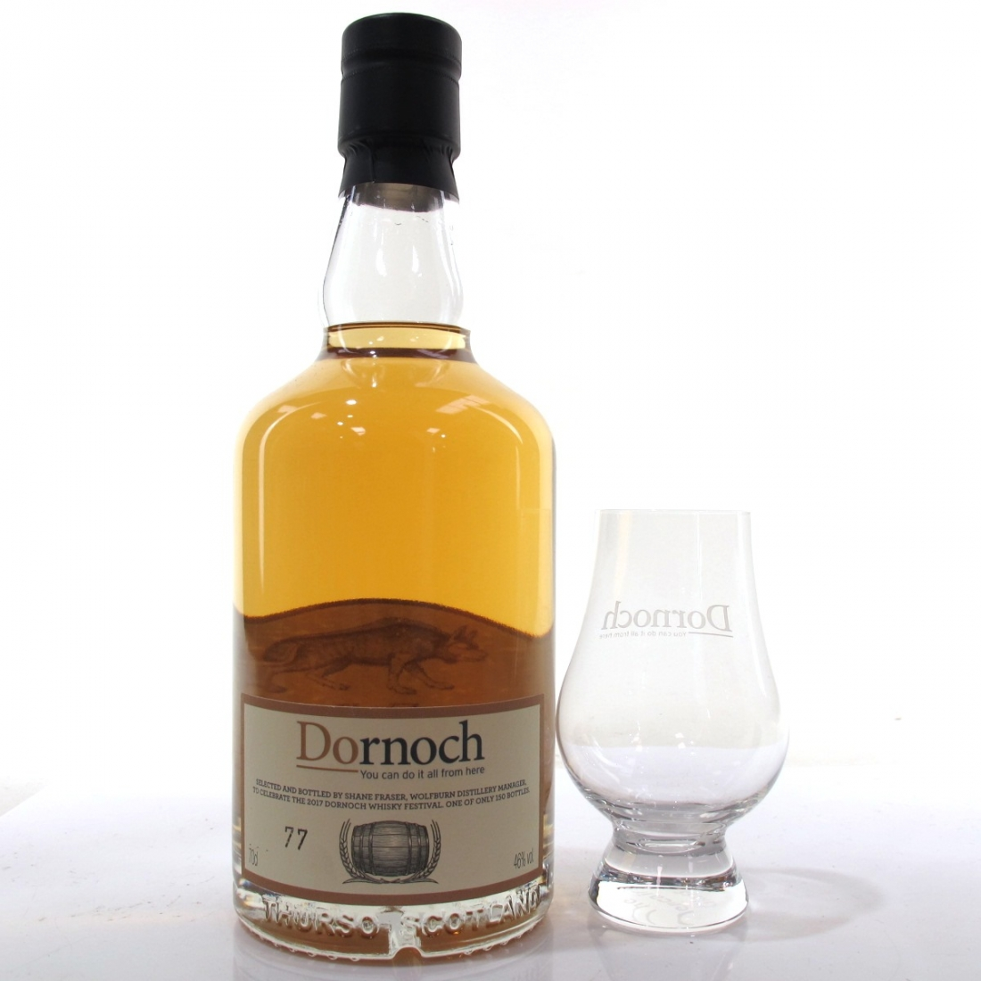 Wolfburn Dornoch Whisky Festival 2017 / includes Glass, Patch & Pin