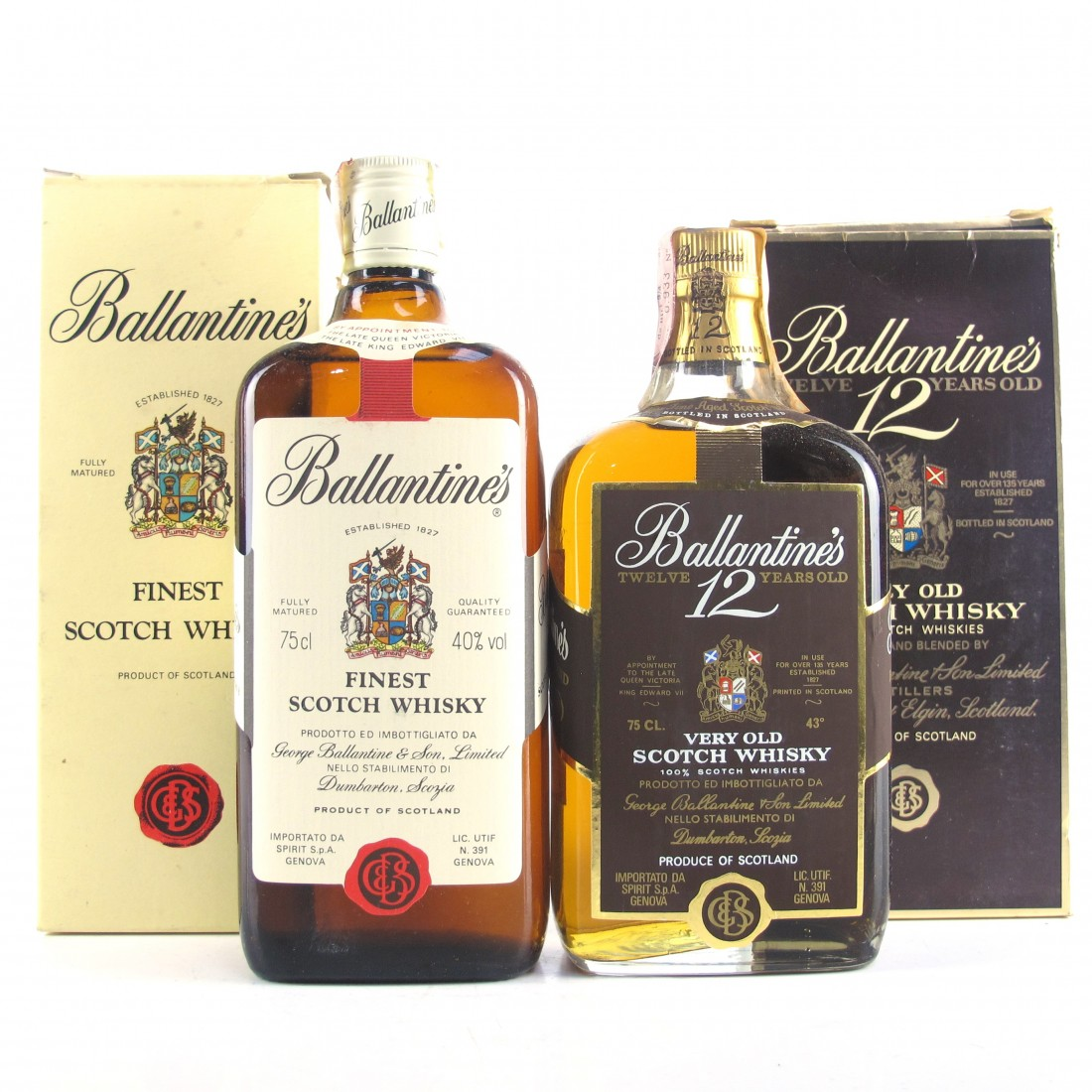 Ballantine's Scotch Whisky 1980s 2 x 75cl