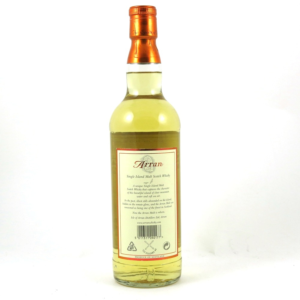 Arran Single Malt back