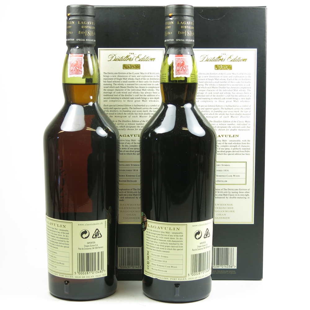 Lagavulin 1990 Distillers Edition 2 x 70cl