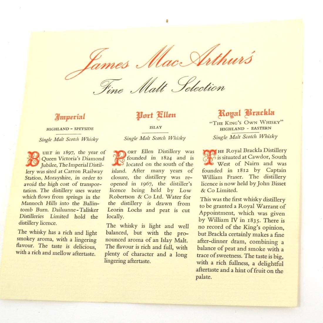 Mitlonduff James MacArthur Miniature Gift Set 3 x 5cl