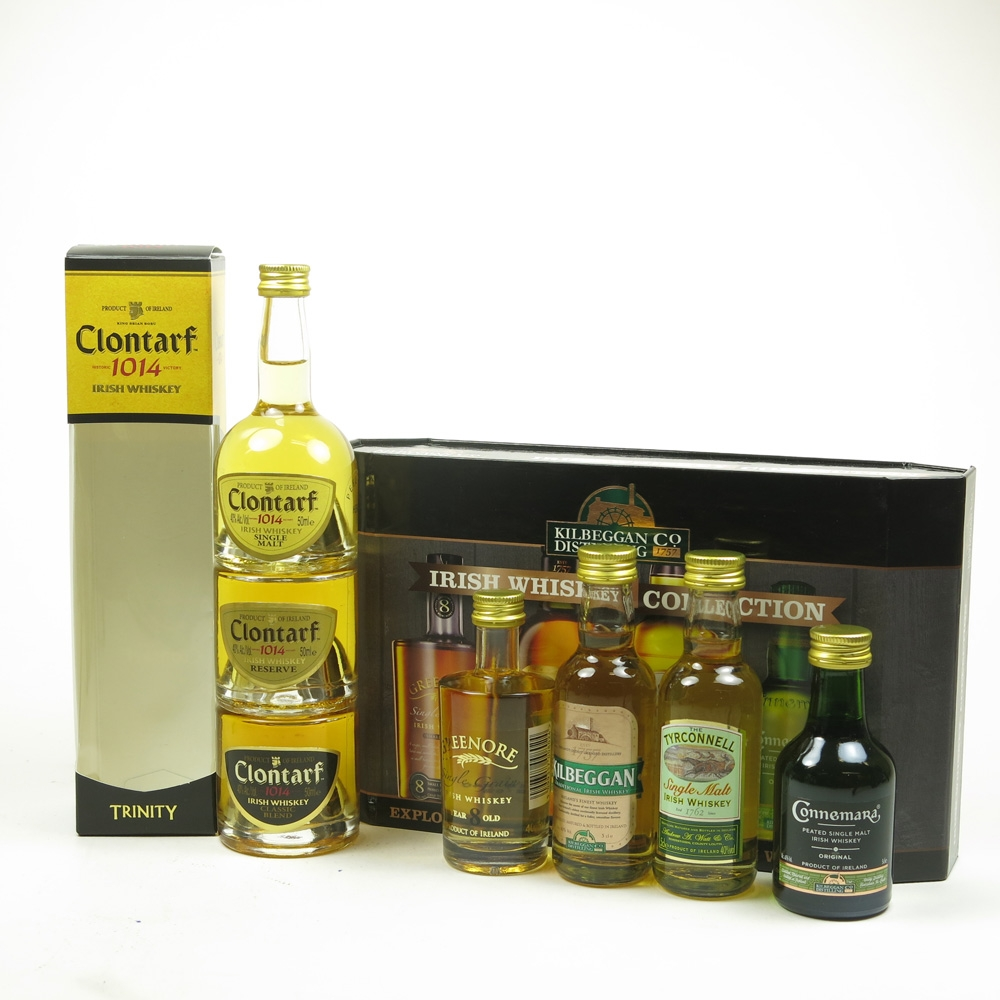 Irish Whisky Collection and Clontarf Collection 7 x 5cl