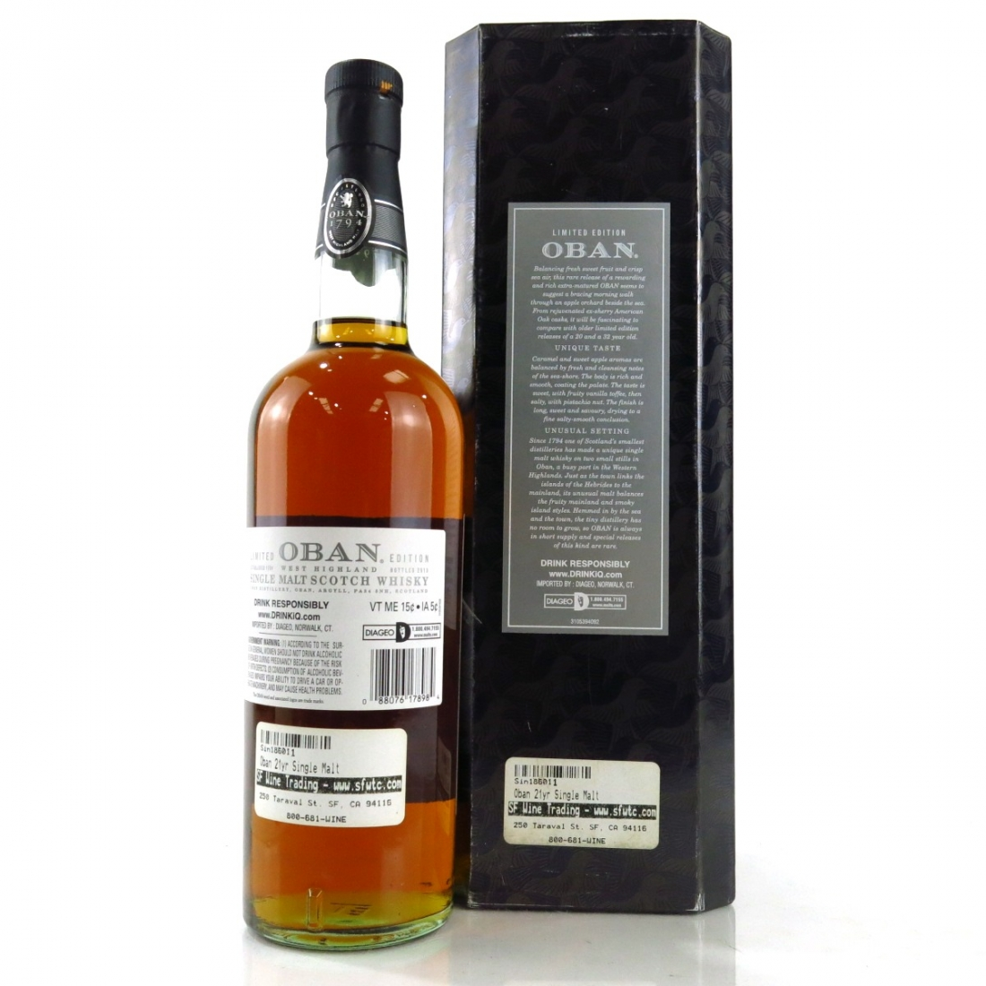 Oban 21 Year Old Cask Strength 2013 75cl / US Import