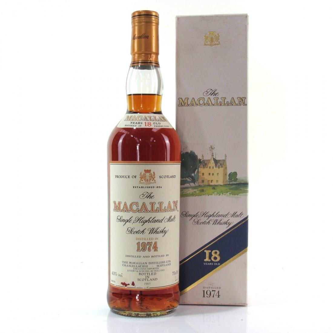 Macallan 18 Year Old 1974 / Dutch Import