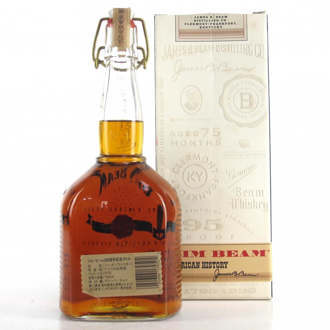 Jim Beam 200 Years of American History Decanter 1795 - 1995