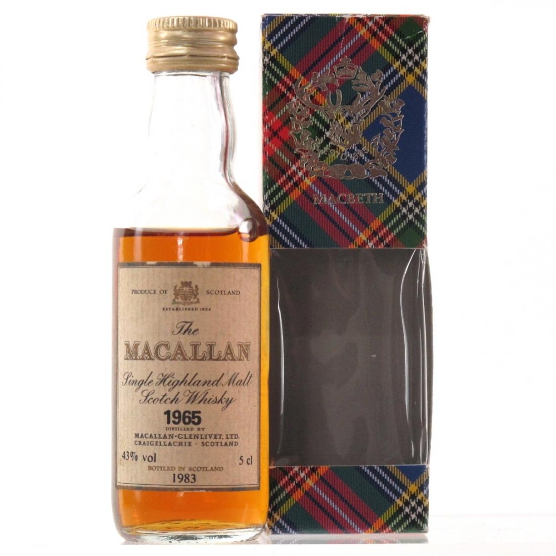Macallan 18 Year Old 1965 Miniature 5cl