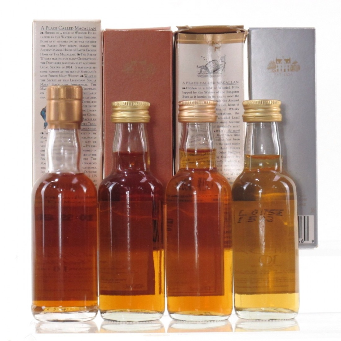 Macallan 10 Year Old Miniature Collection 4 x 5cl
