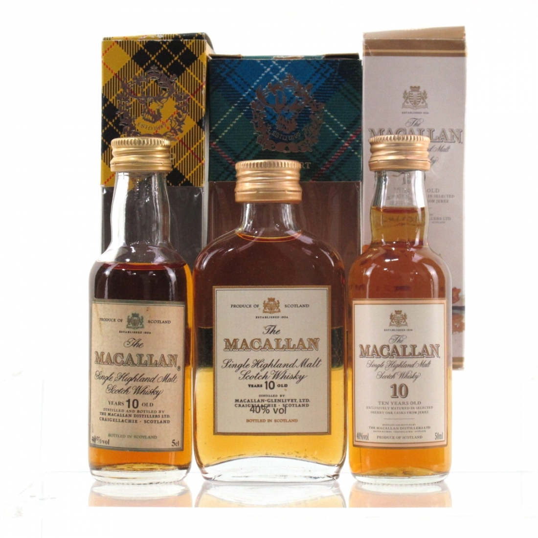 Macallan 10 Year Old Collection 3 x Miniature