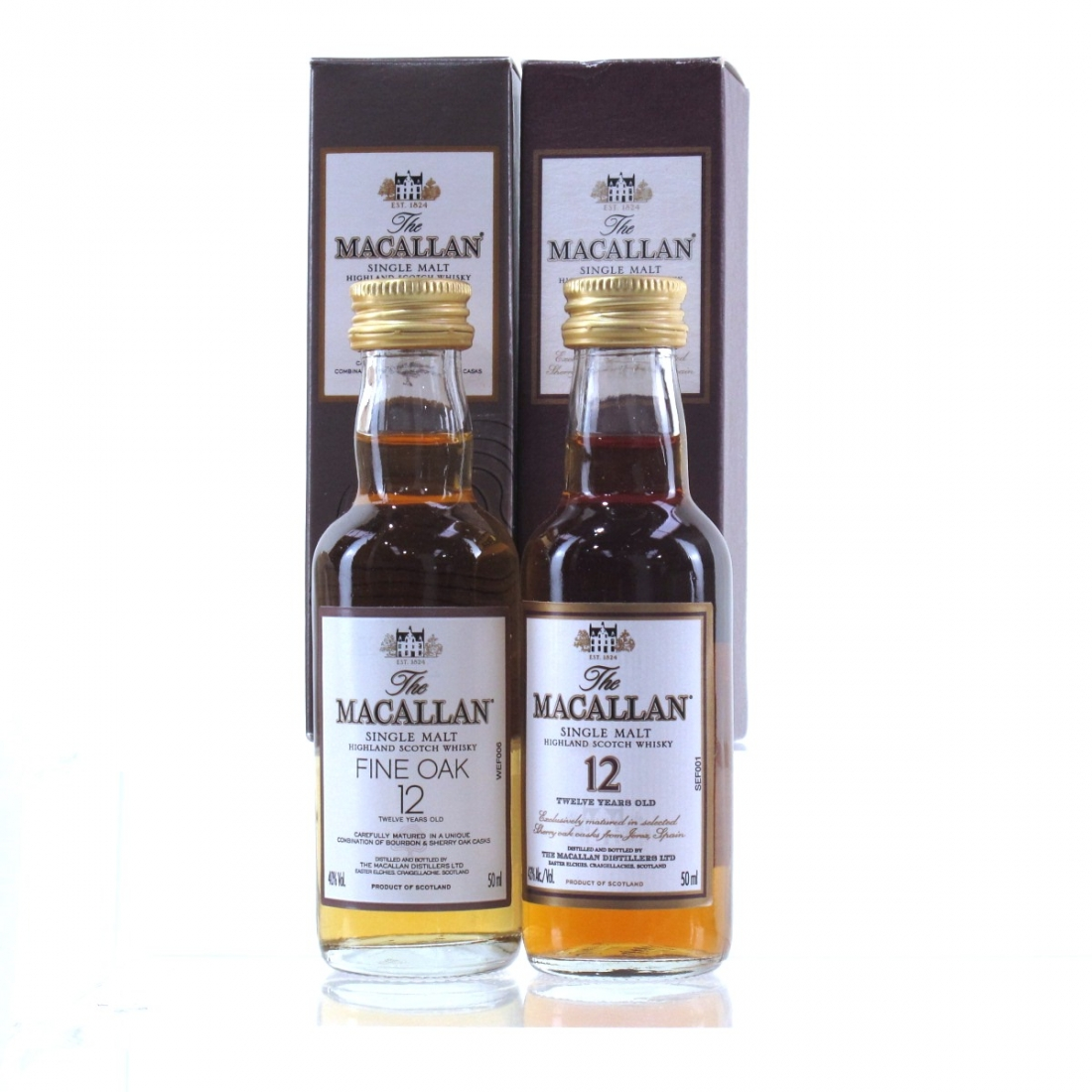 Macallan 12 Year Old Miniatures 2 x 5cl