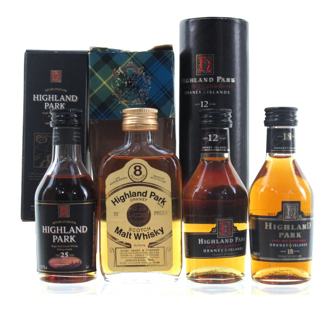 Highland Park Selection 4 x Miniature / Including 25 Year Old
