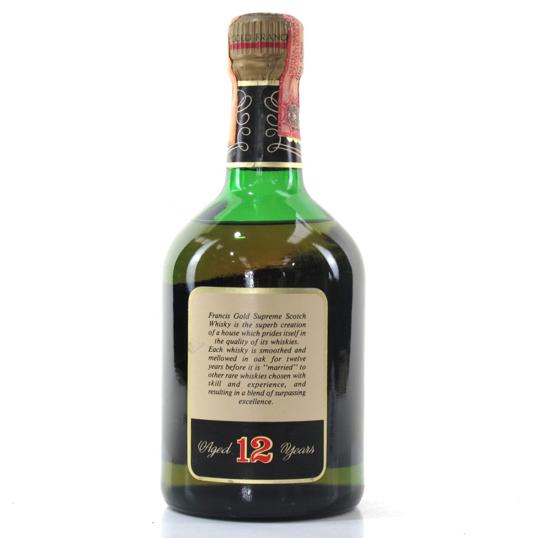 Francis Gold 12 Year Old Scotch Whisky 1970s