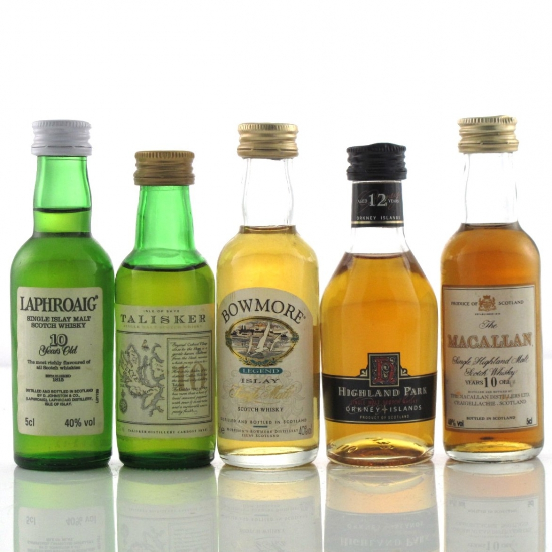 Single Malt Miniature Selection 5 x 5cl / including Macallan 10 Year Old