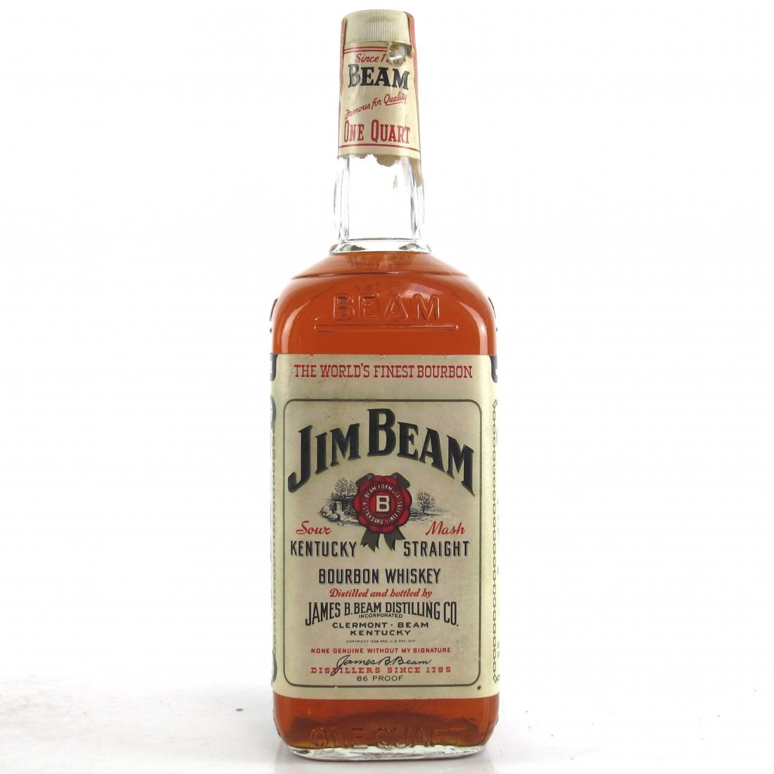 Jim Beam Kentucky Straight Bourbon 1 US Quart 1970s
