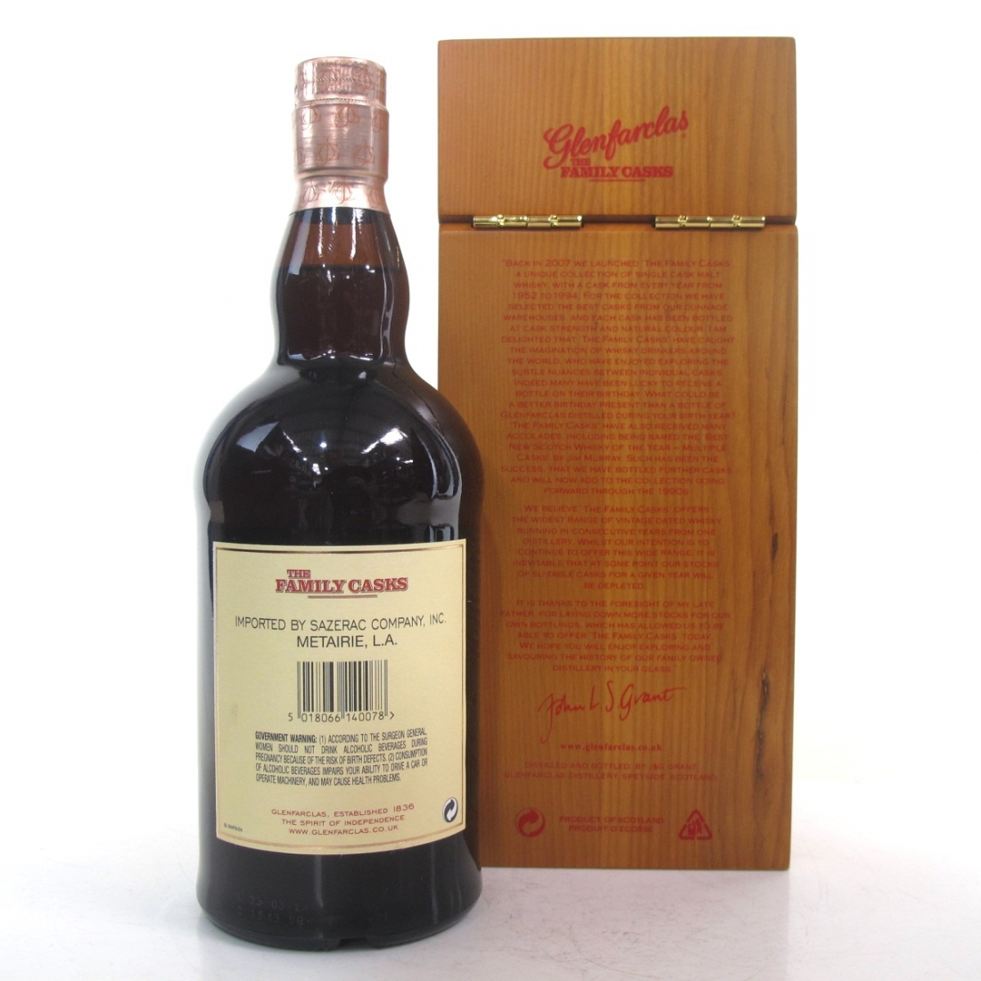 Glenfarclas 1964 Family Cask #4726 75cl / US Import
