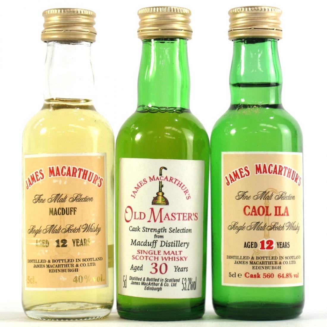 Caol Ila & Macduff James MacArthur Miniatures 3 x 5cl