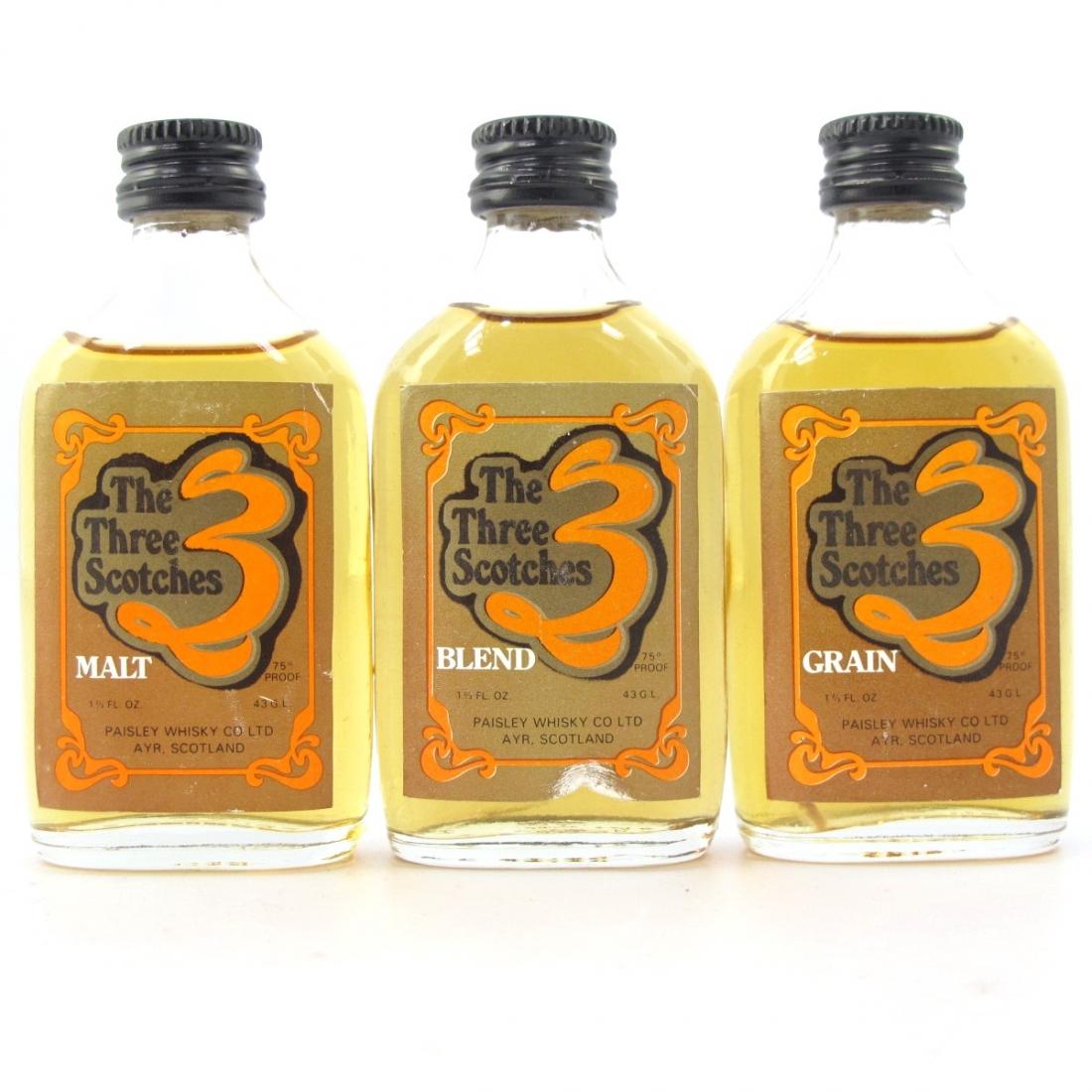 The Three Scotches Selection x 3 / Blend / Grain / Malt