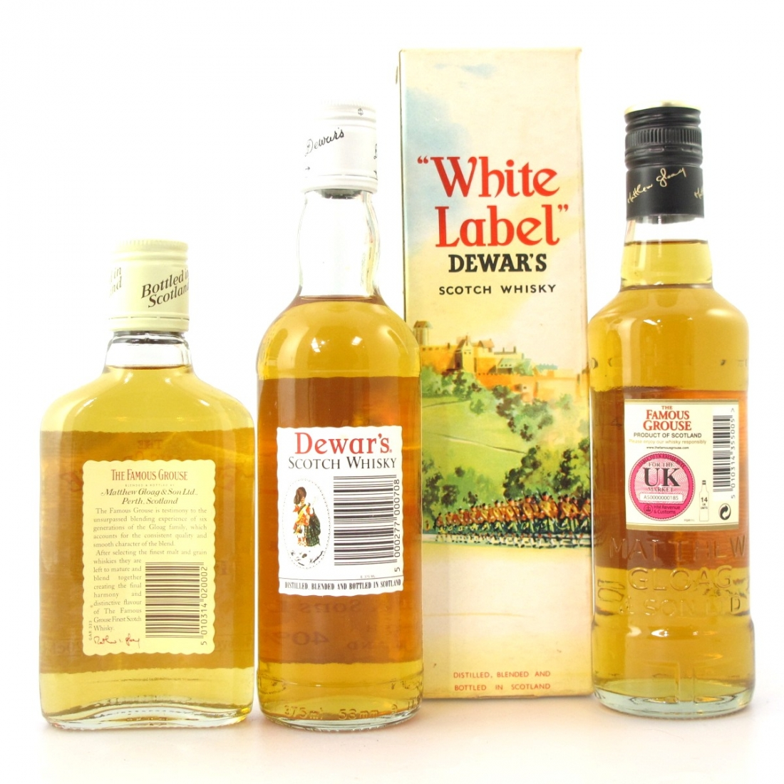 Scotch Whisky Selection 37.5cl, 35cl and 20cl