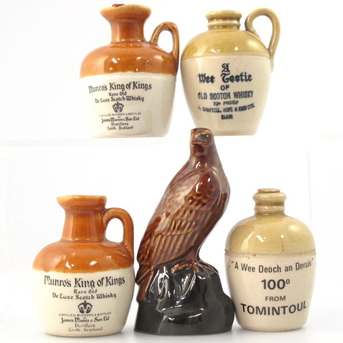 Miscellaneous Scotch Miniature Decanter Selection x 5