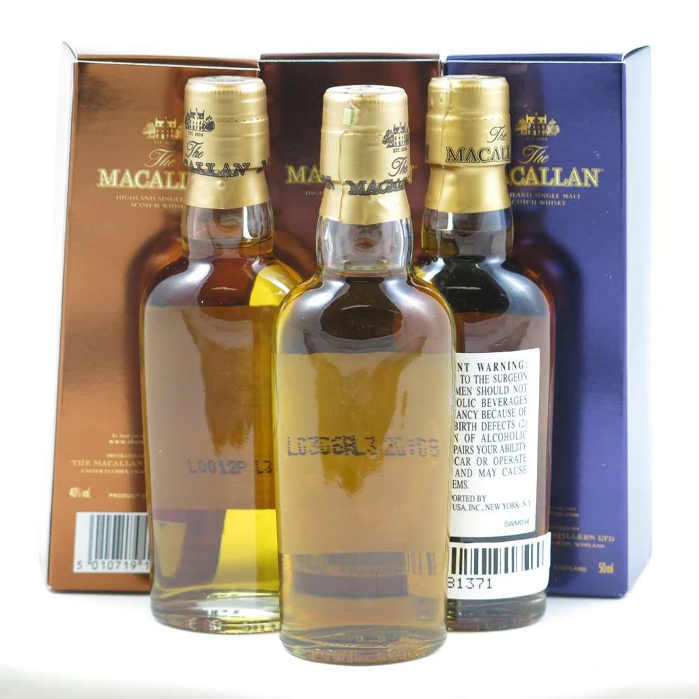 Macallan Miniature Selection 10 / 12 / 18 Year Old 3 x 5cl back