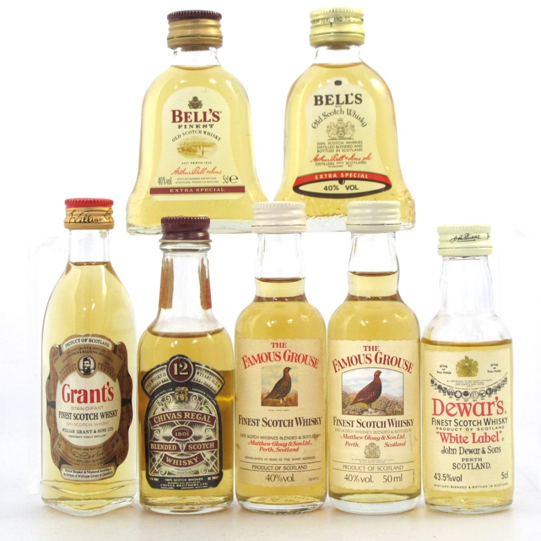 Blended Scotch Miniature Selection x 7
