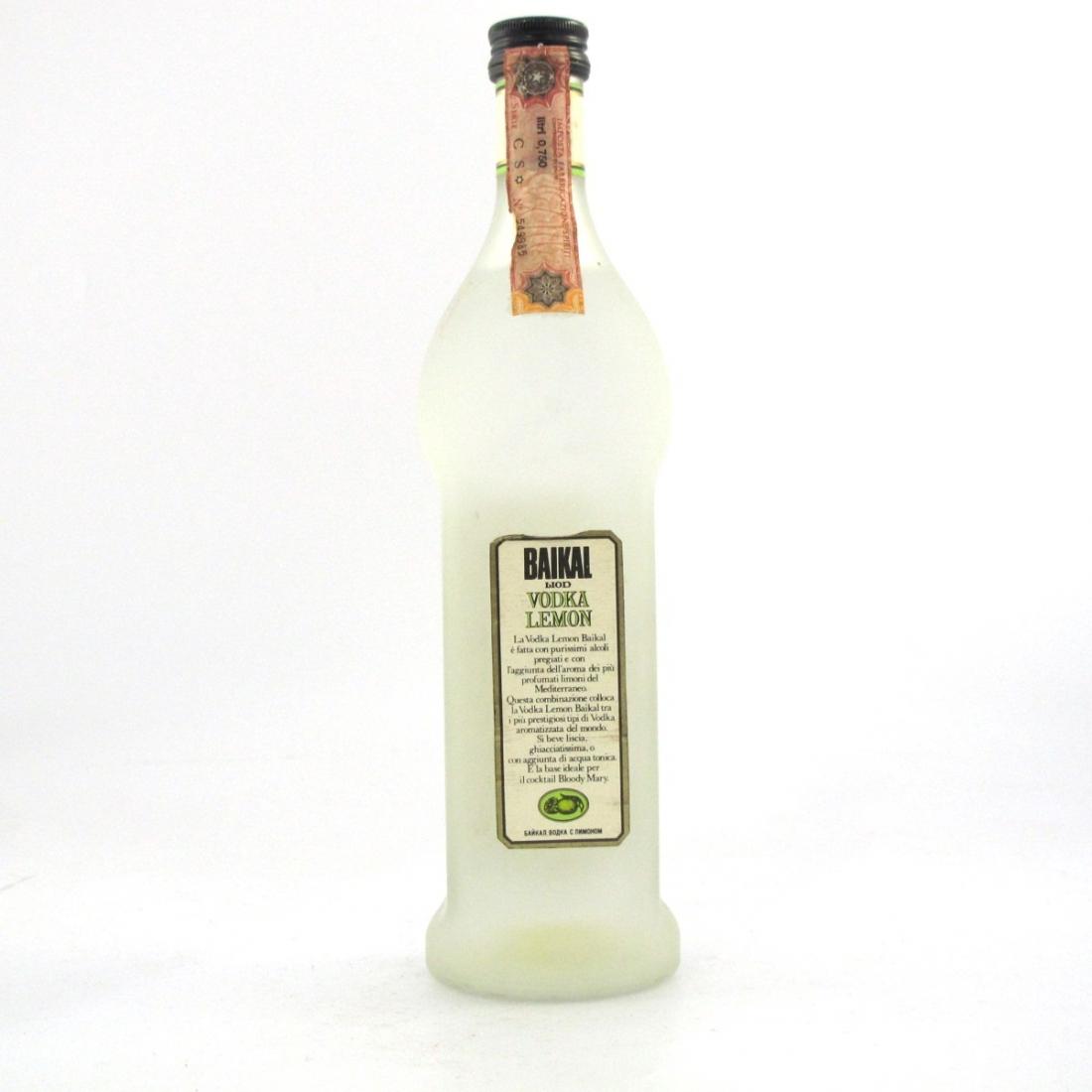Baikal Liod Vodka Lemon 1980s