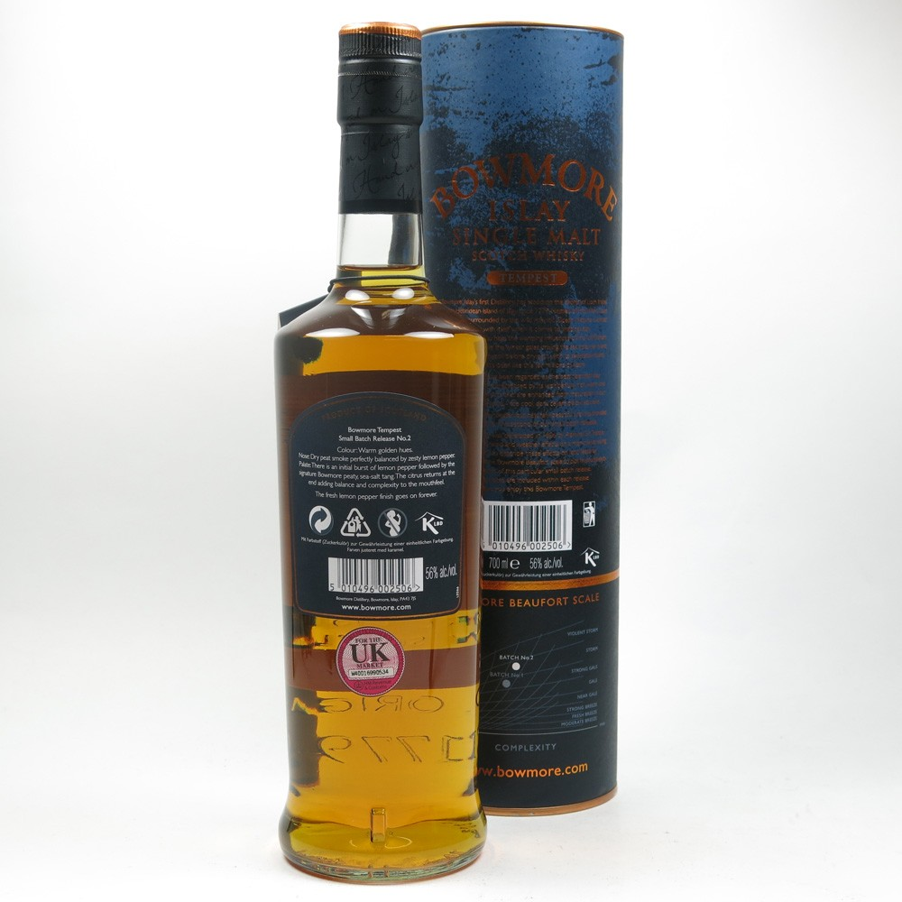 Bowmore Tempest 10 Year Old Batch #2 Back