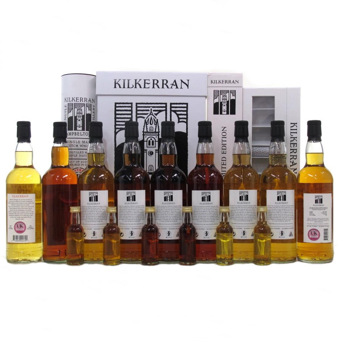 Kilkerran Selection 9 x 70cl / including 10th Anniversary Set & Miniatures 5cl x 6