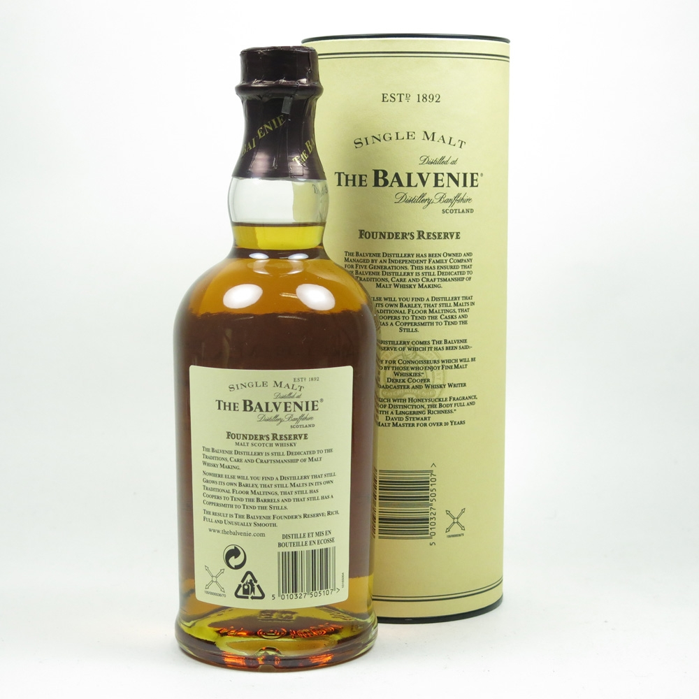 Balvenie 10 Year Old Founders Reserve Back