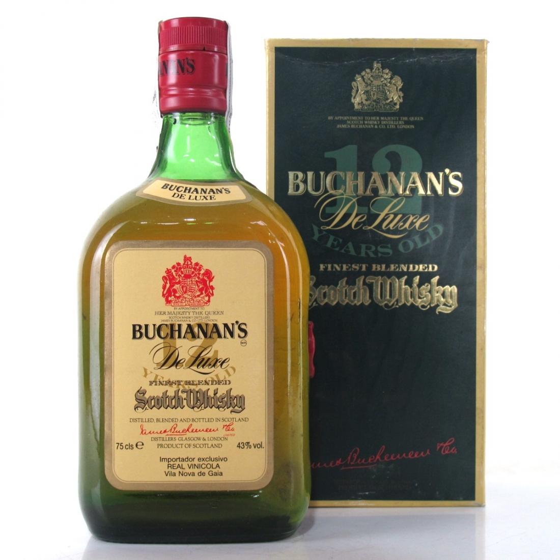 Buchanan's 12 Year Old De Luxe 1980s