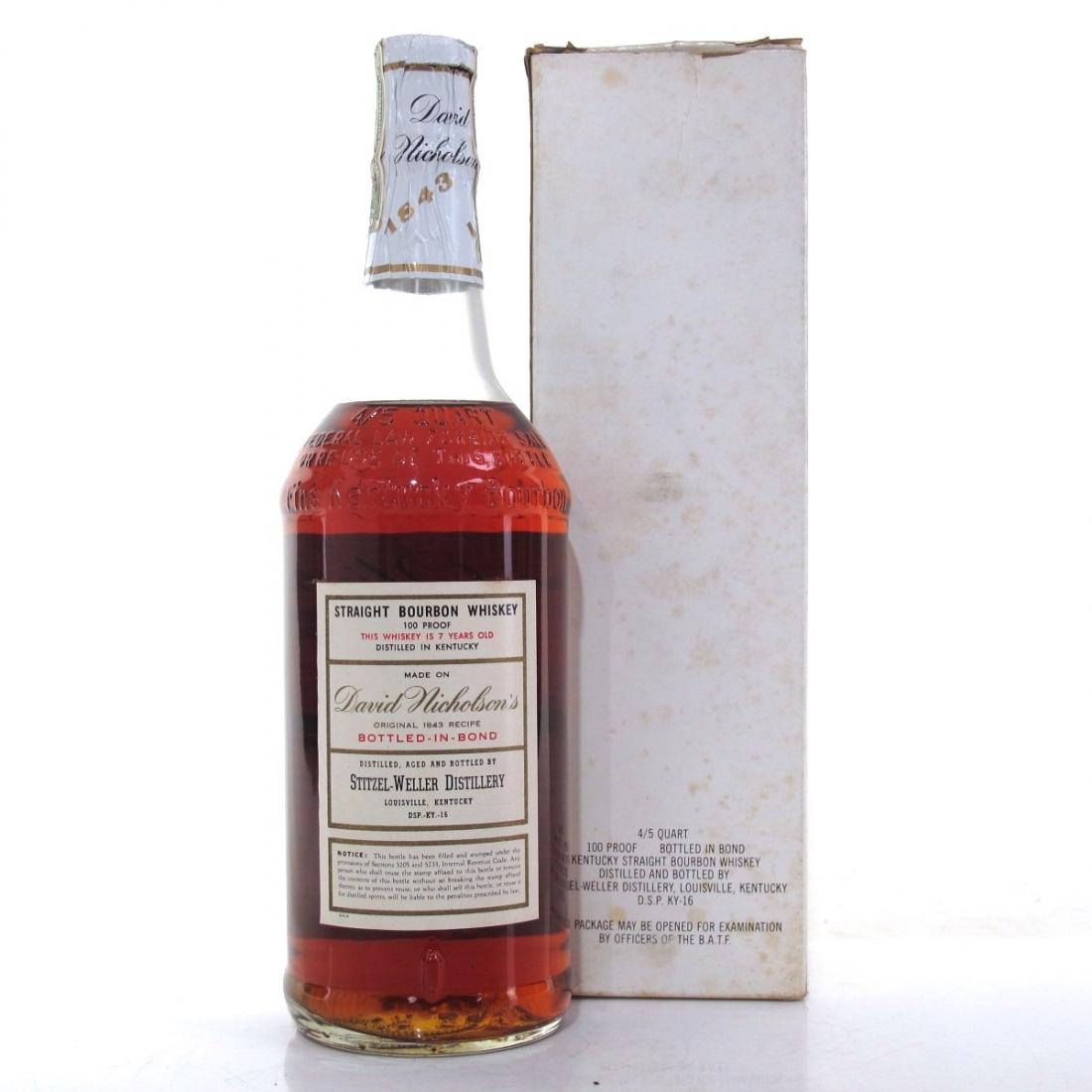 David Nicholson 1964 '1843' Brand Kentucky Straight Bourbon 1971 / Stitzel-Weller