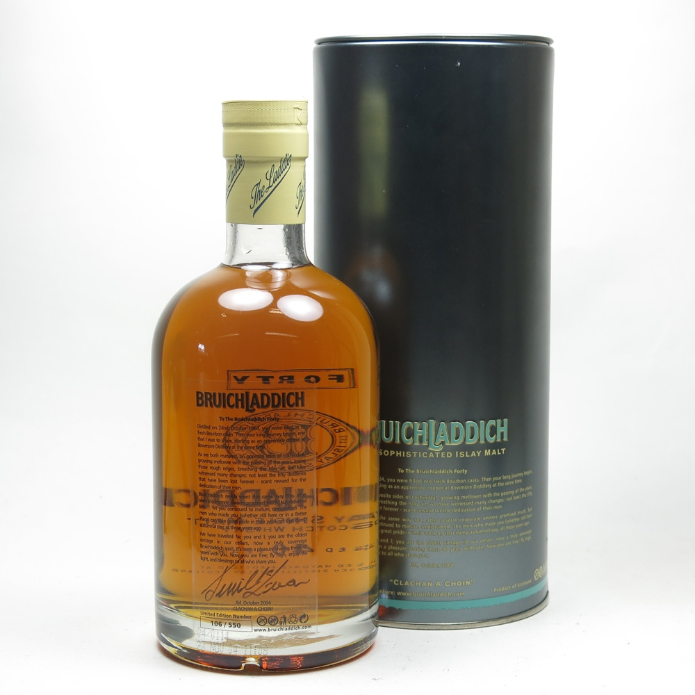 Bruichladdich 40 Year Old 1964 'The Forty' Back
