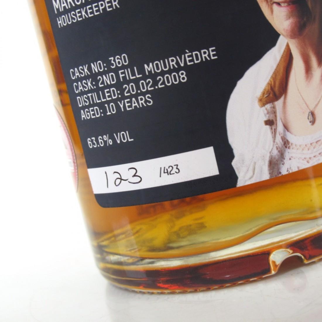 Bruichladdich 2008 Margaret Shaw Valinch 10 Year Old / Mourvedre Red Wine Cask