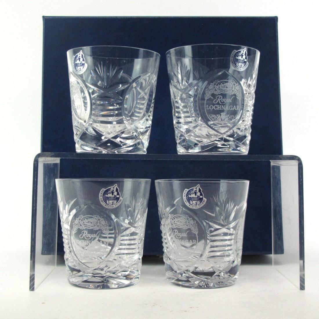 Royal Lochnagar Crystal Glasses x 4