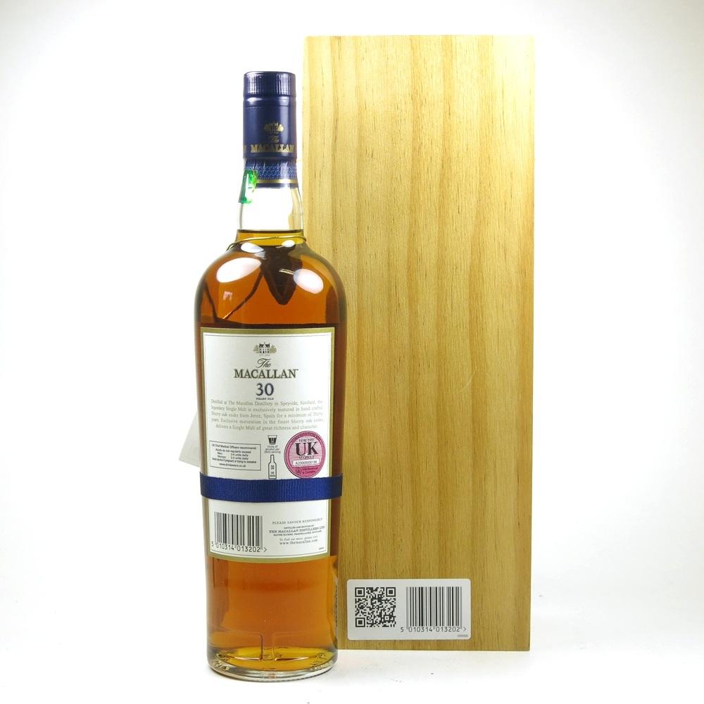 Macallan 30 Year Old Sherry Oak Back
