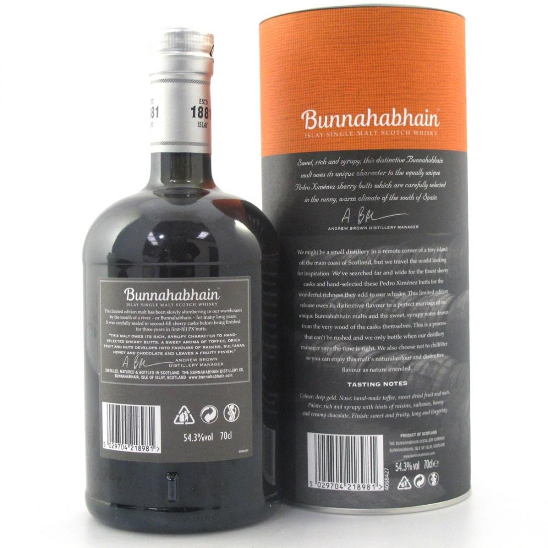 Bunnahabhain 2003 Limited Release Pedro Ximenez Finish