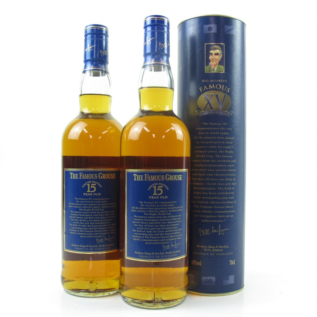 Famous Grouse 15 Year Old Bill McLaren's Famous XV 2 x 70cl