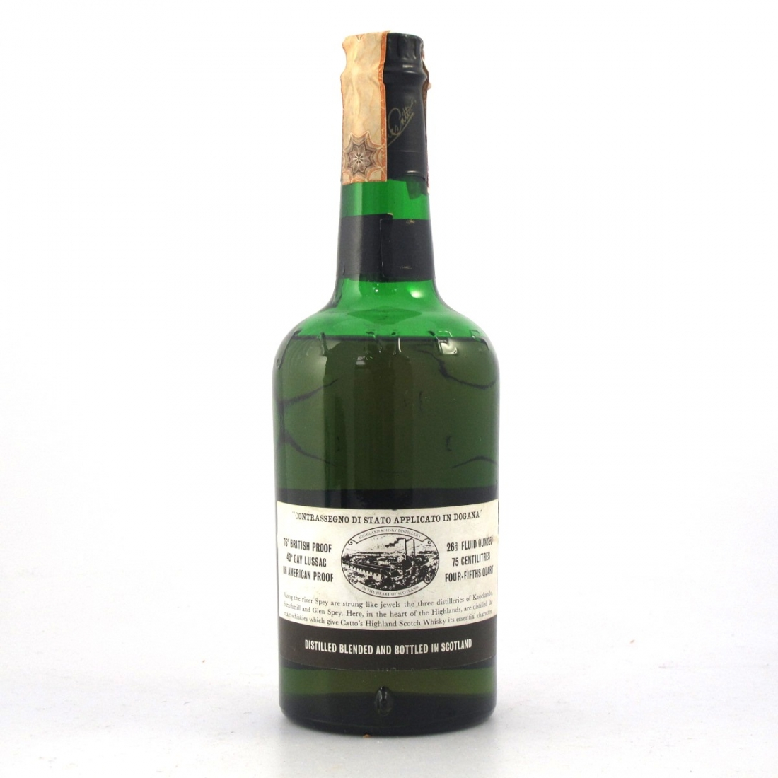Catto's 12 Year Old Scotch Whisky 1960s
