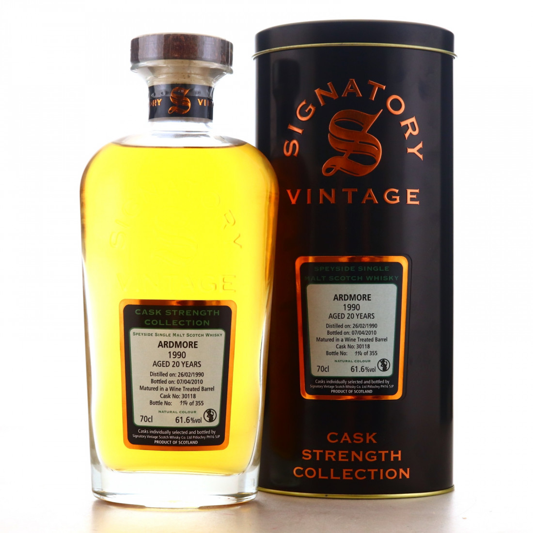 Ardmore 1990 Signatory Vintage 20 Year Old​ Cask Strength