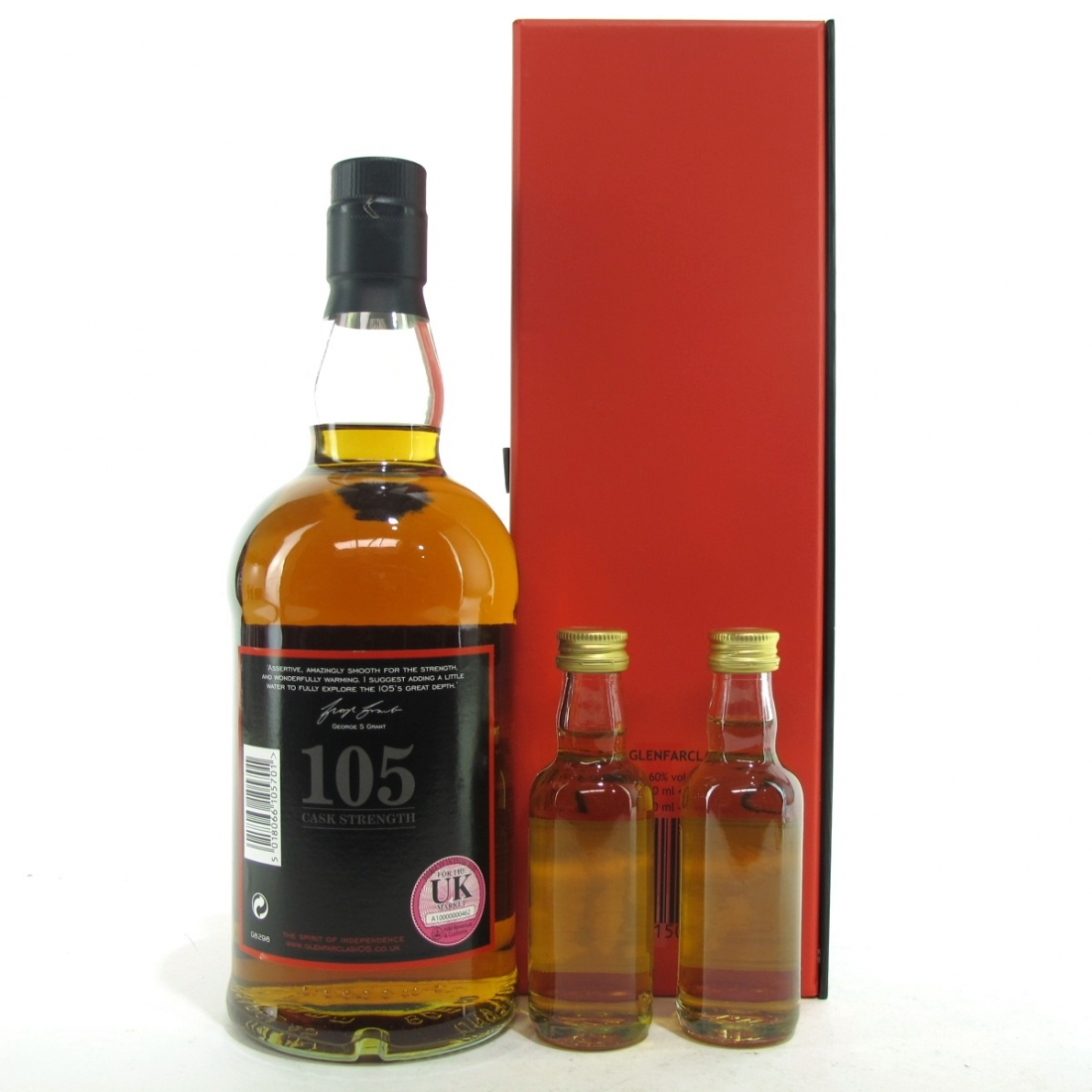 Glenfarclas 105 Cask Strength / with 15 and 21 Year Old Miniature 2 x 5cl