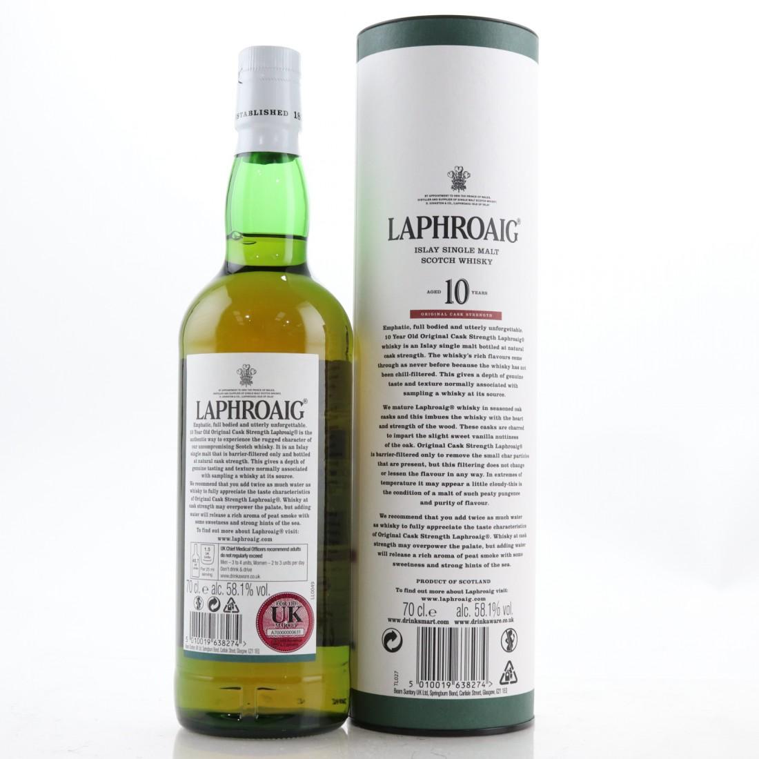 Laphroaig 10 Year Old Cask Strength Batch #009