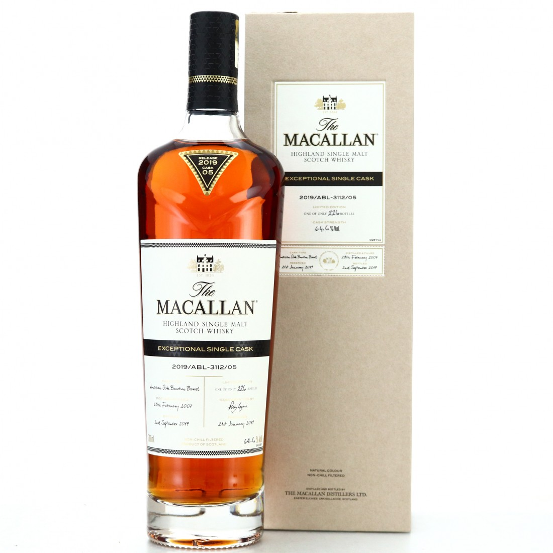 Macallan 2007 Exceptional Cask #3112-05 / 2019 Release