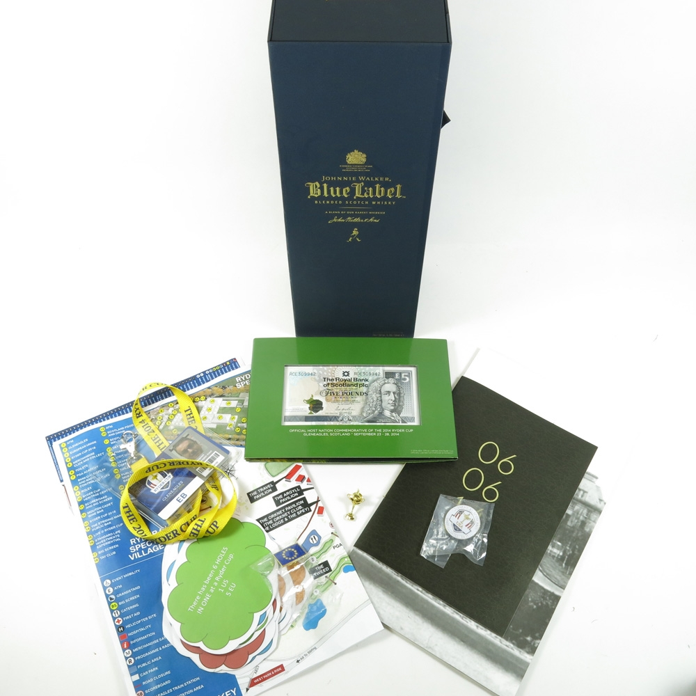 Johnnie Walker Blue Label Ryder Cup Edition including Ryder Cup 2014 Memorabilia