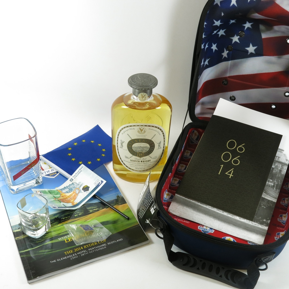 Gleneagles 18 Year Old and Ryder Cup 2014 Memorabilia