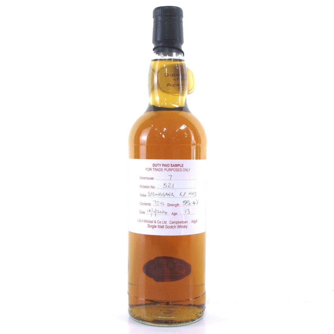 Springbank 2004 Duty Paid Sample 13 Year Old / Refill Hogshead